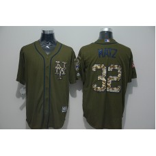 2016 MLB New York Mets 32 Steven Matz Green Salute to Service Stitched Baseball Jersey