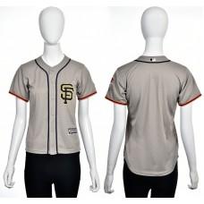 2016 MLB San Francisco Giants Blank grey women jerseys