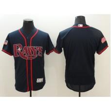 2016 MLB Tampa Bay Rays Blank Blue Elite Fashion Jerseys