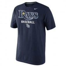 2016 MLB Tampa Bay Rays Nike Home Practice T-Shirt - Navy