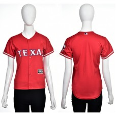 2016 MLB Texas Rangers Blank red women jerseys