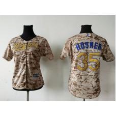 2016 MLB Womens Kansas City Royals 35 ERIC HOSMER Camo Jersey