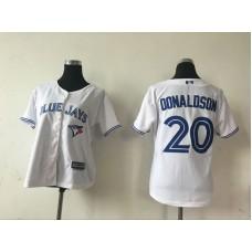 2016 MLB Womens Toronto Blue Jays  20 Josh Donaldson White Jersey