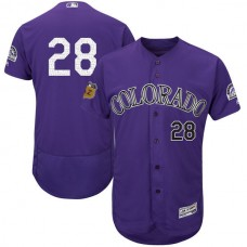 2017 MLB Colorado Rockies 28 Purple Jerseys