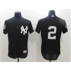 2017 MLB New York Yankees 2 Jeter Black Jerseys