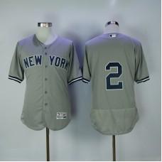 2017 MLB New York Yankees 2 Jeter Grey Elite Jerseys