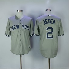2017 MLB New York Yankees 2 Jeter Grey Game Jerseys