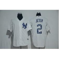 2017 MLB New York Yankees 2 Jeter White Fashion Edition Jerseys