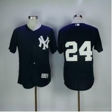 2017 MLB New York Yankees 24 Gary Sanchez Blue Elite Jerseys