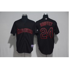 2017 MLB Seattle Mariners 24 Griffey Black Classic Jerseys
