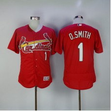 2017 MLB St. Louis Cardinals 1 O.Smith Red Elite Jerseys