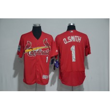 2017 MLB St. Louis Cardinals 1 O.Smith Red Spring Training Flex Base Jersey