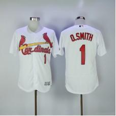 2017 MLB St. Louis Cardinals 1 O.Smith White Elite Jerseys