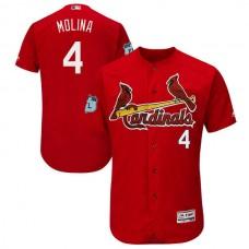 2017 MLB St. Louis Cardinals 4 Molina Red Jerseys