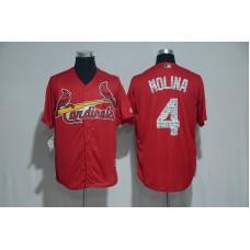 2017 MLB St. Louis Cardinals 4 Molina Red Spring Training Jersey