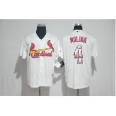 2017 MLB St. Louis Cardinals 4 Molina White Fashion Edition Jerseys