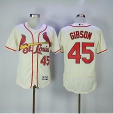 2017 MLB St. Louis Cardinals 45 Gibson Cream Elite Jerseys
