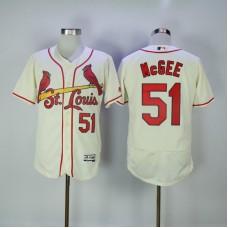 2017 MLB St. Louis Cardinals 51 Mcgee Cream Elite Jerseys