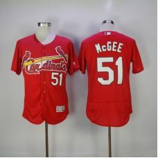 2017 MLB St. Louis Cardinals 51 Mcgee Red Elite Jerseys