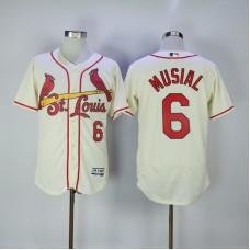 2017 MLB St. Louis Cardinals 6 Musial Cream Elite Jerseys