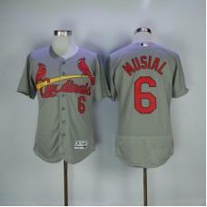 2017 MLB St. Louis Cardinals 6 Musial Grey Elite Jerseys