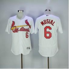 2017 MLB St. Louis Cardinals 6 Musial White Elite Jerseys