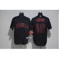 2017 MLB Texas Rangers 12 Odor Black Classic Jerseys
