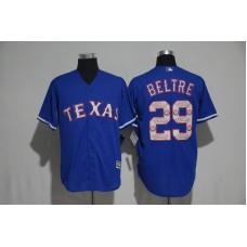 2017 MLB Texas Rangers 29 Beltre Blue Fashion Edition Jerseys