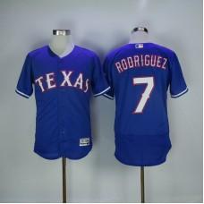 2017 MLB Texas Rangers 7 Rodriguez Blue Elite Jerseys