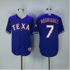 2017 MLB Texas Rangers 7 Rodriguez Blue Jerseys