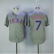 2017 MLB Texas Rangers 7 Rodriguez Grey Jerseys