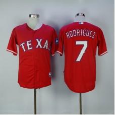 2017 MLB Texas Rangers 7 Rodriguez Red Jerseys