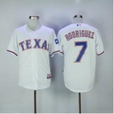 2017 MLB Texas Rangers 7 Rodriguez White Jerseys
