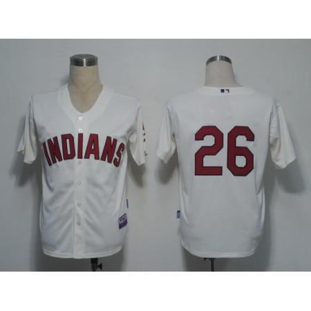 MLB Cleveland Indians 26 Kearns Gream Jerseys