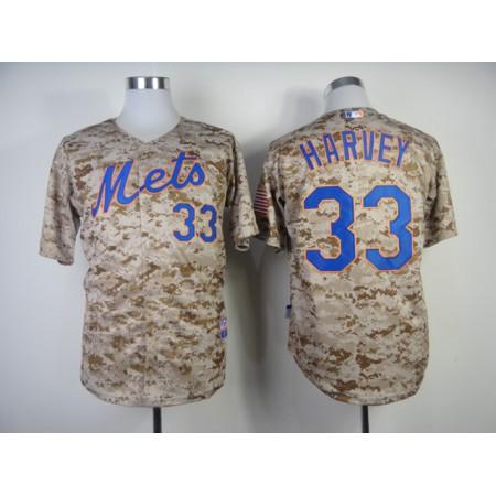 MLB New York Mets 33 Matt Harvey Camo Jerseys