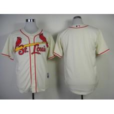 MLB St Louis Cardinals Blank Gream Jerseys