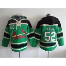 MLB St. Louis Cardinals 52 Wacha Green Lace Up Pullover Hooded Sweatshirt
