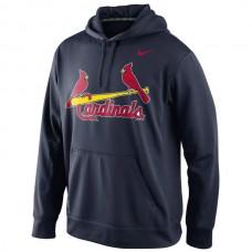 MLB St. Louis Cardinals Nike KO Wordmark Performance Hoodie - Navy
