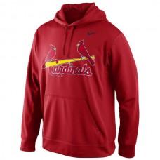 MLB St. Louis Cardinals Nike Men KO Wordmark Perfomance Hoodie - Red