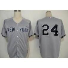 2016 New York Yankees 24 grey jerseys