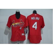 Womens 2017 MLB St. Louis Cardinals 4 Molina Red Elite Jerseys