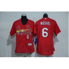 Womens 2017 MLB St. Louis Cardinals 6 Musial Red Elite Jerseys