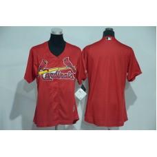 Womens 2017 MLB St. Louis Cardinals Blank Red Jerseys