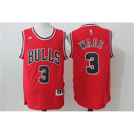 2016 NBA Chicago Bulls 3 Wade Red Jerseys