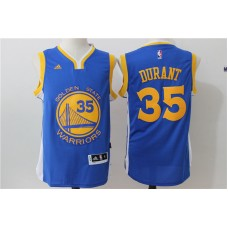2016 NBA Golden State Warriors 35 Kevin Durant Blue Jerseys