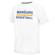 2016 NBA Golden State Warriors adidas On-Court climalite Ultimate T-Shirt - White