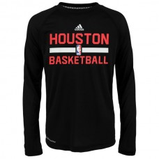 2016 NBA Houston Rockets adidas On-Court Climalite Ultimate Long Sleeve T-Shirt - Black