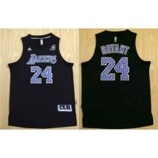2016 NBA Los Angeles Lakers 24 Kobe Bryant black  jerseys