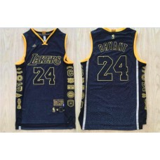 2016 NBA Los Angeles Lakers 24 Kobe Bryant blue jerseys