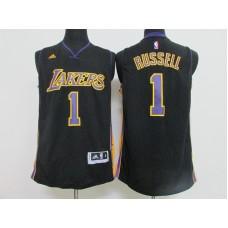 2016 NBA los Angeles Lakers 1 Russell black  jerseys